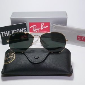 Ray Ban Gold Aviator Sunglasses RB3025